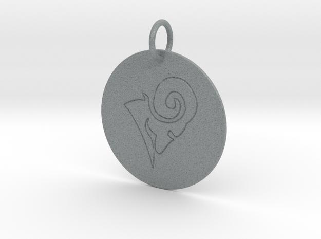Aries Keychain in Polished Metallic Plastic