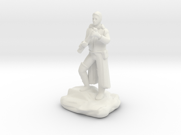 Halfling Rogue  With Dagger in White Natural Versatile Plastic