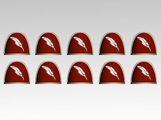 Quill V.4 Shoulder Pads x10 in Smooth Fine Detail Plastic