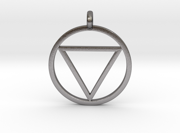 Naruto Jashin Pendant/Keyring (SMALL) in Polished Nickel Steel