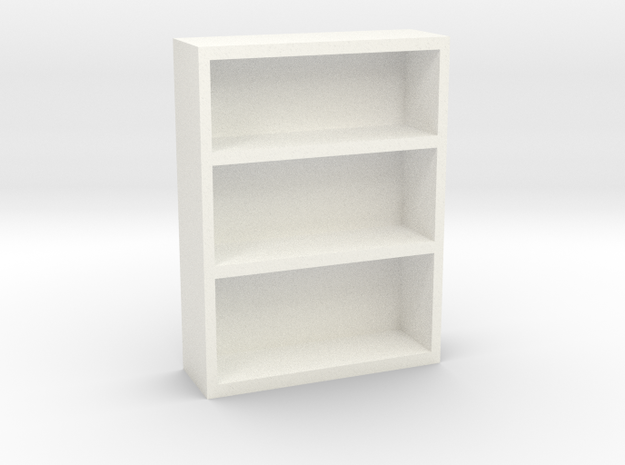 Bookcase 2 in White Processed Versatile Plastic