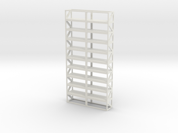 Industrial Shelf 5x10m scale 1-100 in White Natural Versatile Plastic: 1:100