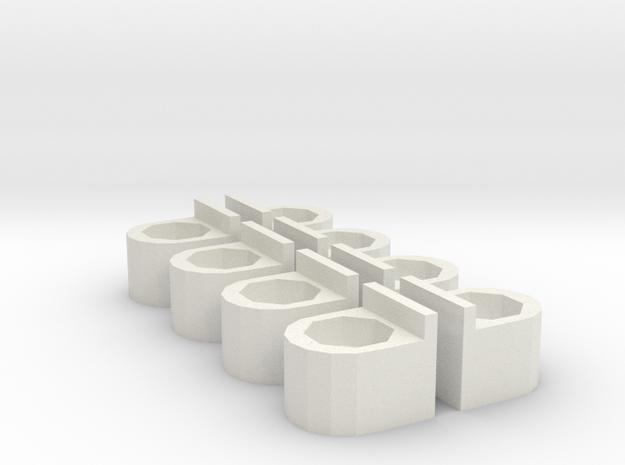 Body Support V2 in White Natural Versatile Plastic