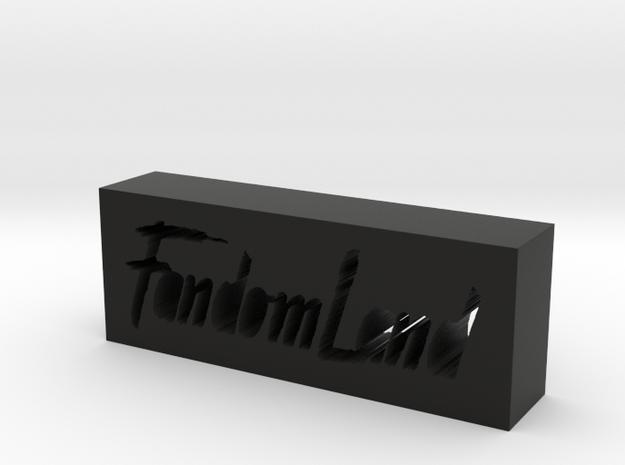 FandomLand Logo in Black Strong & Flexible