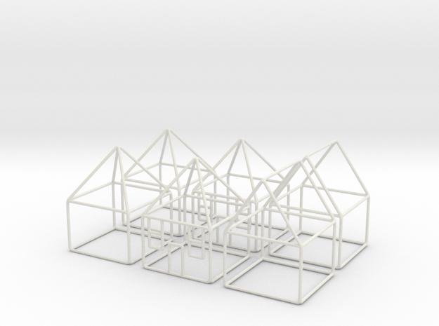 House 6x scale 1-200 10x10x14m