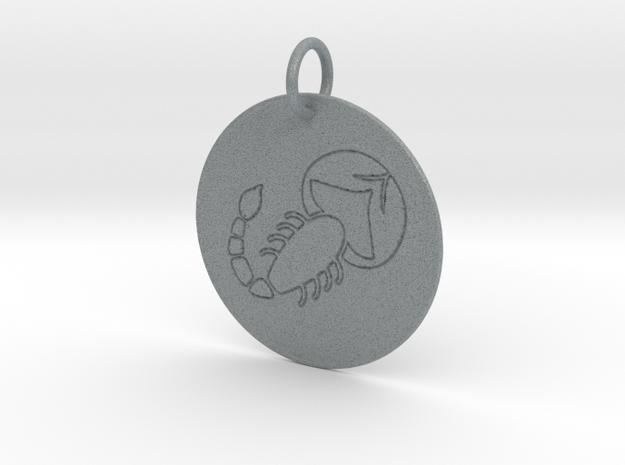 Scorpio Keychain in Polished Metallic Plastic
