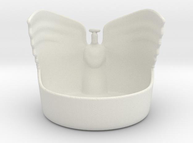 Angel Candleholder in White Natural Versatile Plastic
