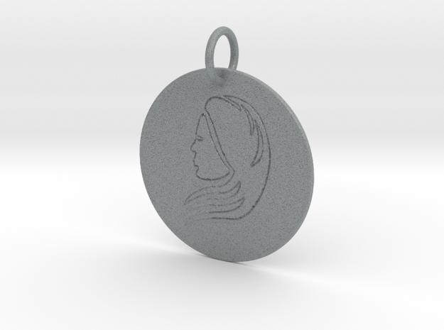 Virgo Keychain in Polished Metallic Plastic