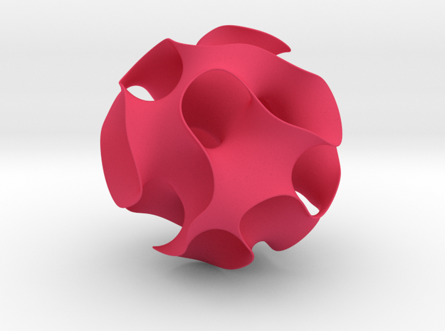 Gyroid, round cut in Pink Processed Versatile Plastic: Medium
