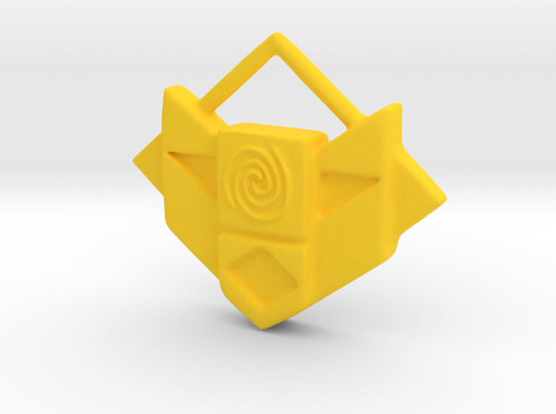 Atlantis Amulet in Yellow Strong & Flexible Polished