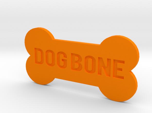 Dog Bone Button in Orange Strong & Flexible Polished