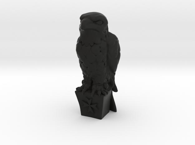 SmallMalteseFalcon2 in Black Natural Versatile Plastic