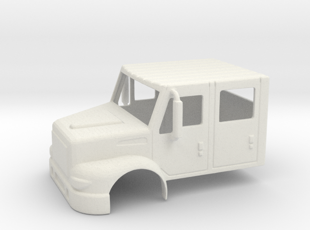 International 4 Door Day Cab 1-87 HO Scale in White Natural Versatile Plastic