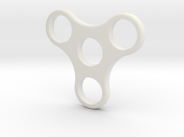 Spinning Fidget Toy in White Strong & Flexible