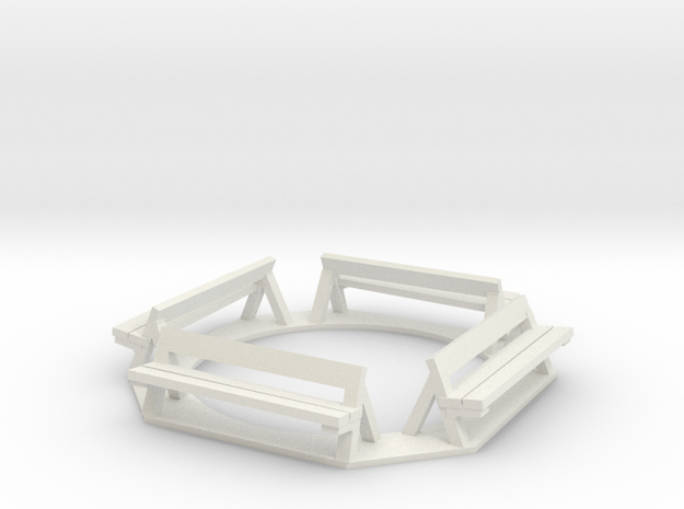 Benches in White Strong & Flexible