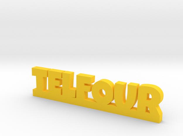 TELFOUR Lucky in Yellow Processed Versatile Plastic
