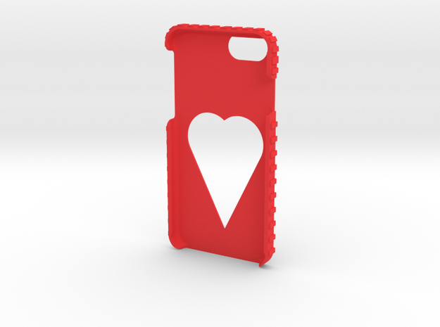 Iphone 7 Heart in Red Strong & Flexible Polished