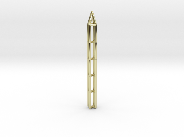 Pen Pendant X in 18k Gold Plated