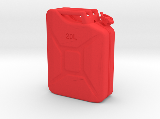 1/10th Scale Jerry Can / gas can in Red Strong & Flexible Polished