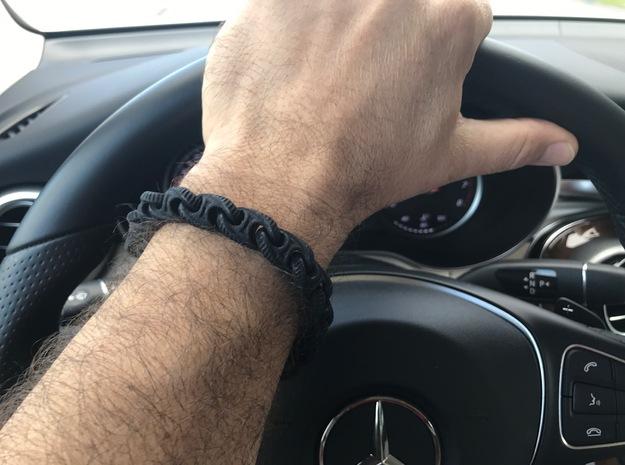 S Chain Bracelet 8.75in Long in Black Strong & Flexible