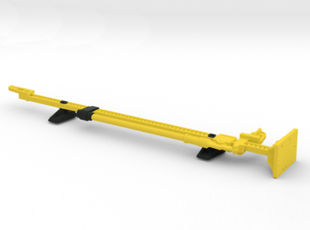 AJ10051 Jack and Hood Mount - YELLOW in Yellow Strong & Flexible Polished