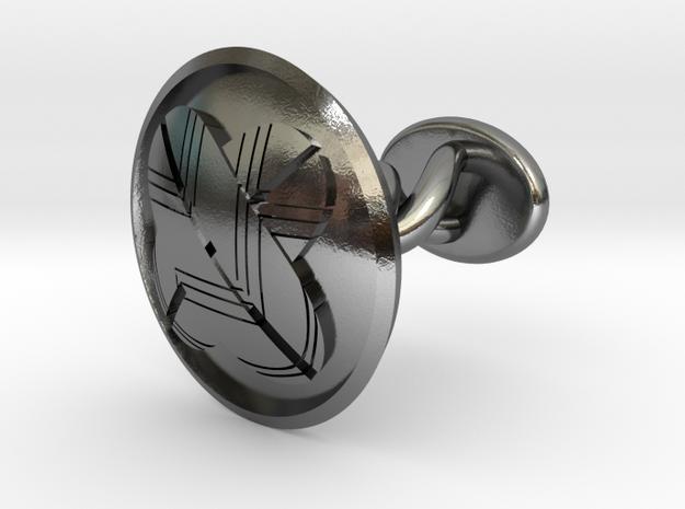 "Japanese Kamon cufflinks ""違いの羽紋"" in Polished Silver: Small"