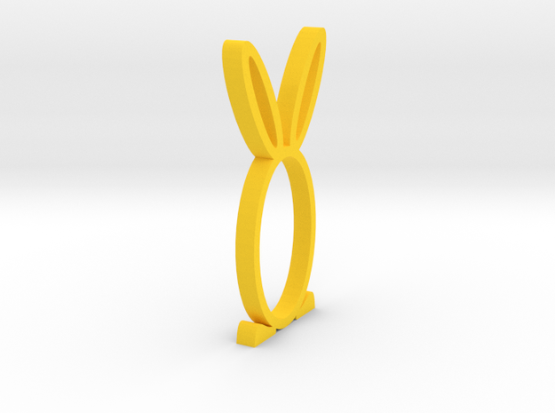 Easter stand for napkins in Yellow Processed Versatile Plastic