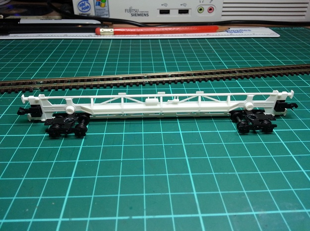 KFA Wagon N Gauge 1:148 3d printed KFA Side