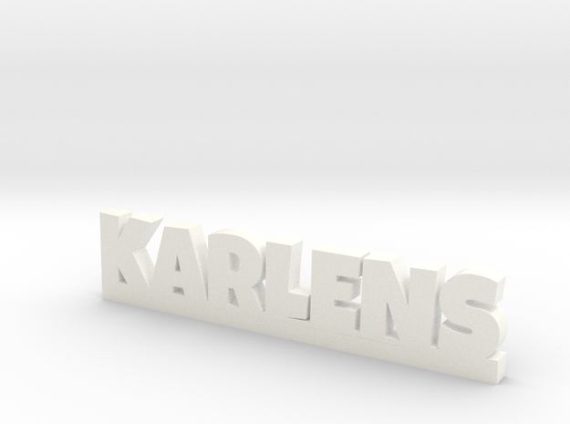 KARLENS Lucky in White Processed Versatile Plastic
