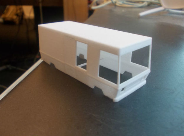 SRV wagen (1:87) (no.2) in White Natural Versatile Plastic