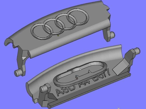 Audi A4 B6 Armrest lid with spring 4rings in Black Natural Versatile Plastic