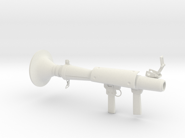 Rocket launcher in White Natural Versatile Plastic