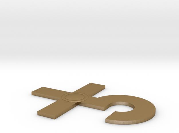 Blue Oyster Cult logo v1 in Polished Gold Steel