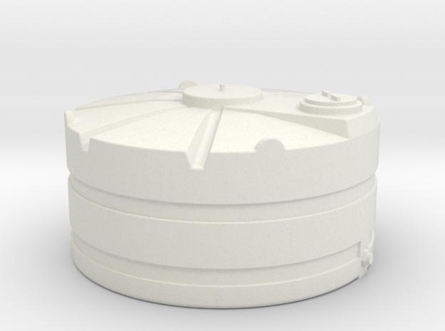 1/64 Scale 1000 Gallon Tank in White Natural Versatile Plastic