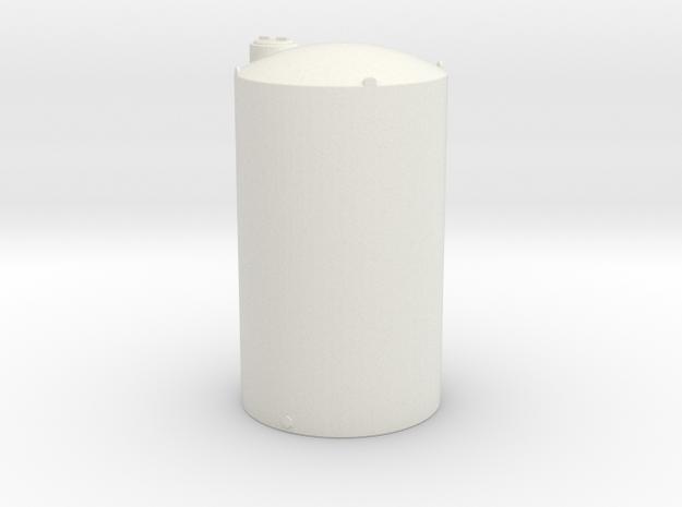 1/64 Scale 6000 Gallon Vertical Tank in White Natural Versatile Plastic