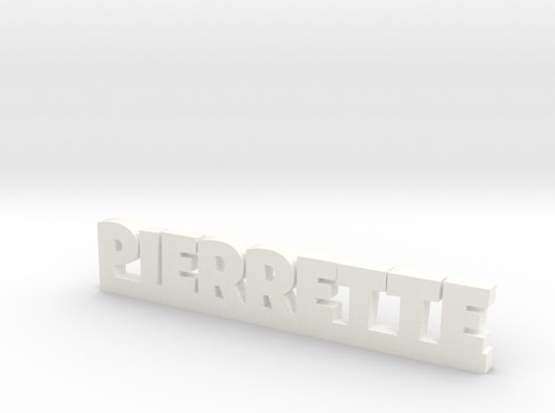 PIERRETTE Lucky in White Processed Versatile Plastic