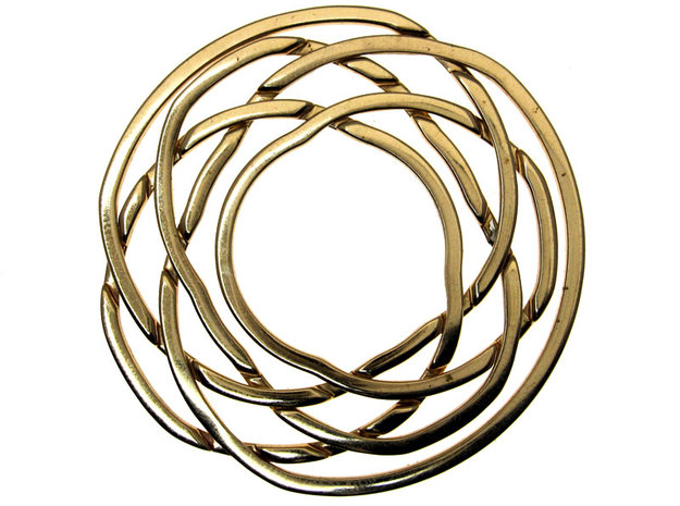WOW5 Coaster Metal in Interlocking Polished Bronze