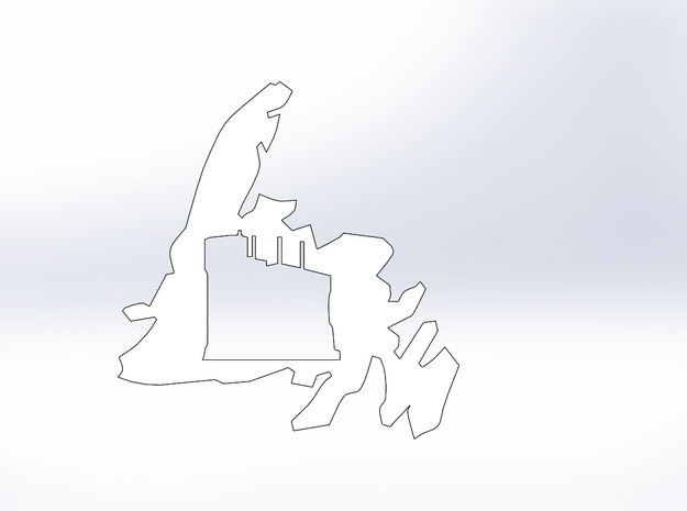 Newfoundland Signal Hill Cutout (L) in White Natural Versatile Plastic