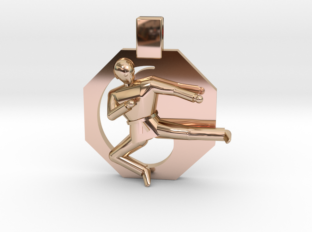 Pendant - Mens Yeop Chagi in 14k Rose Gold Plated