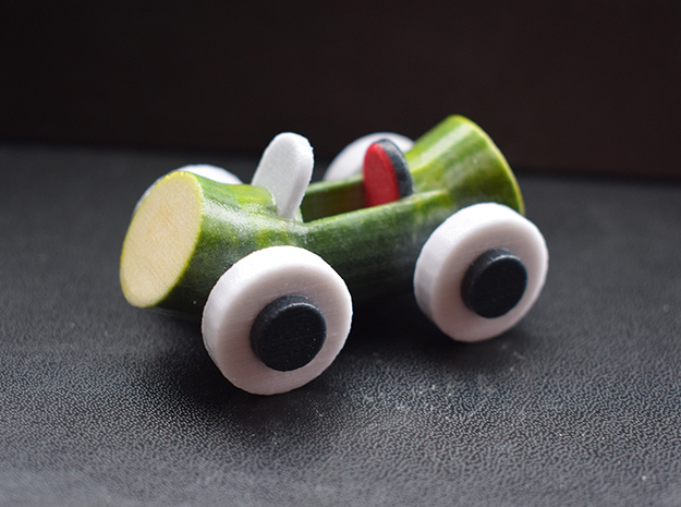 Cucumber Car 2 in Coated Full Color Sandstone