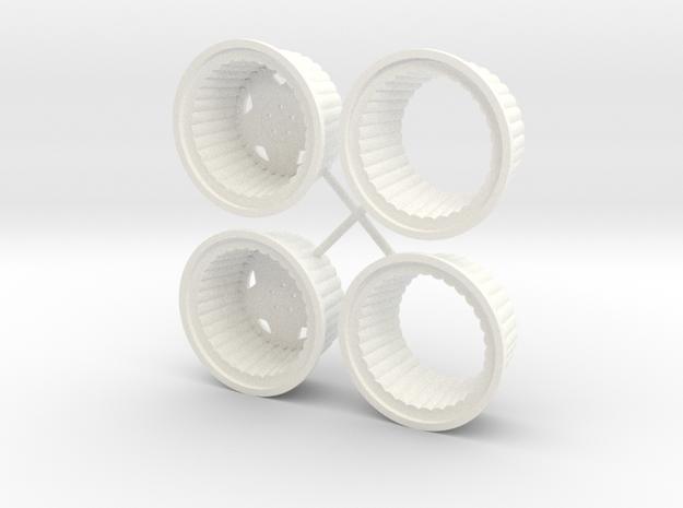 Centerline 1/18 Convo Pro Rear in White Processed Versatile Plastic