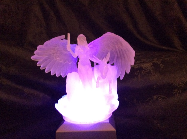 Angel, Elephant and Donkey in Smooth Fine Detail Plastic