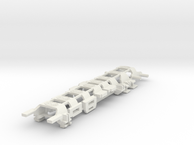 HWP SL2/BW1 Body Clips in White Natural Versatile Plastic