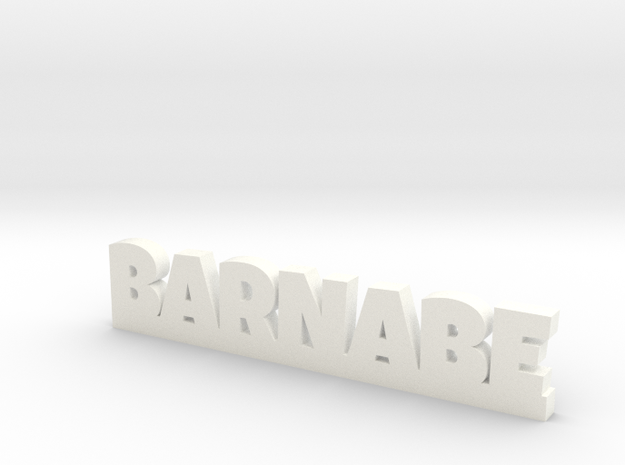 BARNABE Lucky in White Processed Versatile Plastic