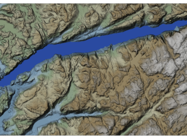 Lysefjord Map, Norway in Coated Full Color Sandstone