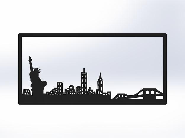 New York Skyline - 5.5 X 11.5 (L) in White Natural Versatile Plastic