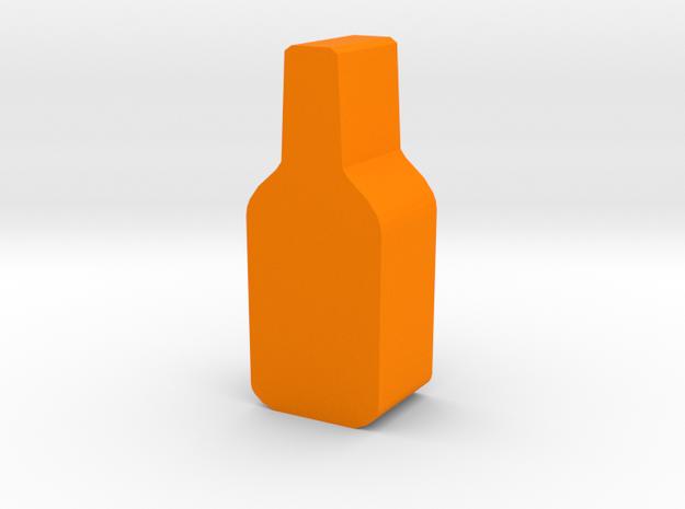 Game Piece, Bottle in Orange Processed Versatile Plastic