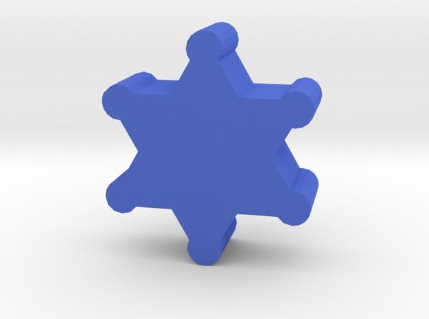Game Piece, Sheriff Badge in Blue Processed Versatile Plastic