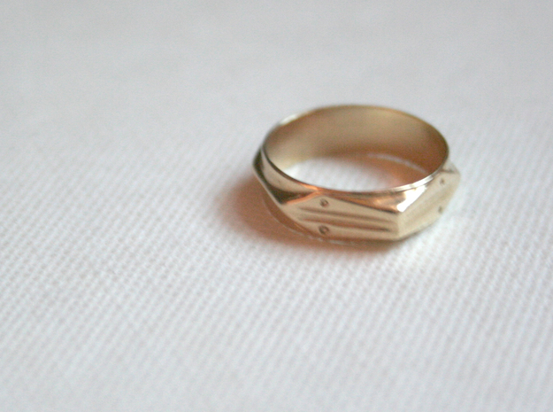 Abstract Ring No.4 in Polished Brass