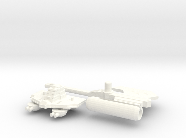 TR: Carrier Kit for Broadside/Tidalwave in White Strong & Flexible Polished